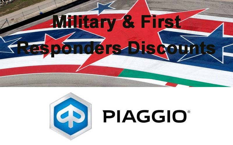 Piaggio - Military & First Responders Discounts