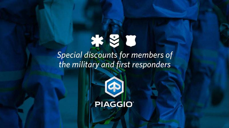 Piaggio - Military & First Responders Discount