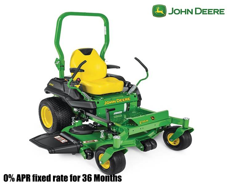John Deere - 0% APR fixed rate for 36 Months on Z700 Series