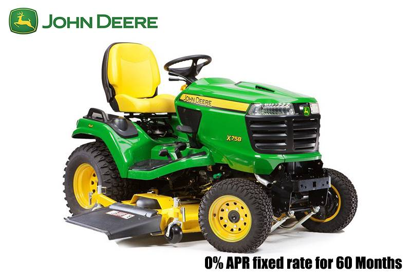 John Deere - 0% APR fixed rate for 60 Months on X700 Signature Series