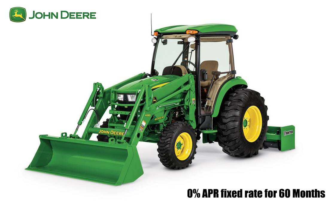 John Deere - 0% APR fixed rate for 60 Months AND Save up to $4,000