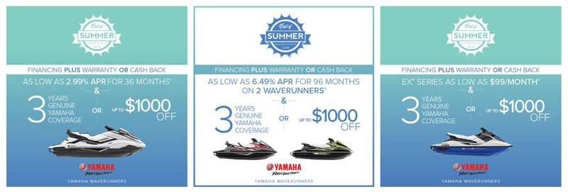 Yamaha Motor Corp., USA Yamaha Waverunners - End of Summer Sales Event 2019