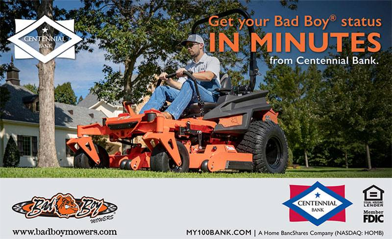 Bad Boy Mowers - Centennial Bank Financing