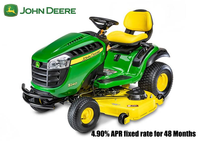 John Deere - 4.90% APR fixed rate for 48 Months on S240