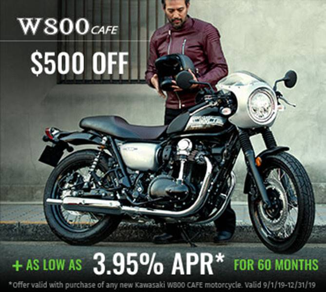 Kawasaki - W800 Cafe Motorcycle - As Low As 3.95% Apr For 60 Months