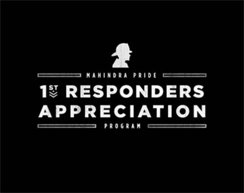 Mahindra Pride Rebate - First Responder Appreciation Program
