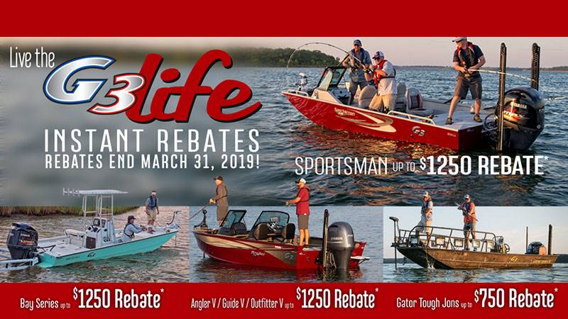 G3 Boats - G3 Life Instant Rebates