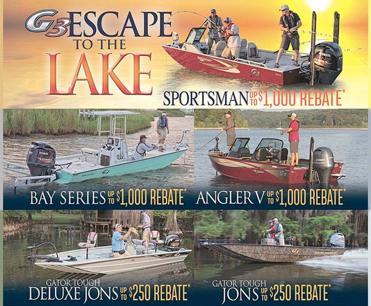 G3 Boats - Escape to the lake