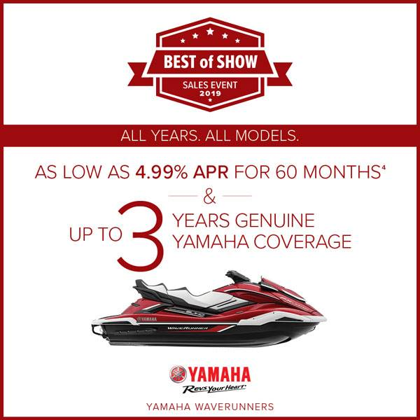 Yamaha Motor Corp., USA Yamaha Waverunners - AS LOW AS 4.99% APR