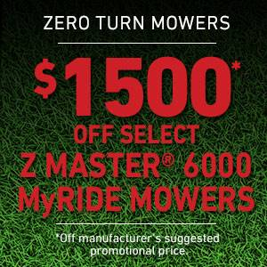 Toro - $1500 USD Off Select Z Master 6000 Series MyRIDE Mowers