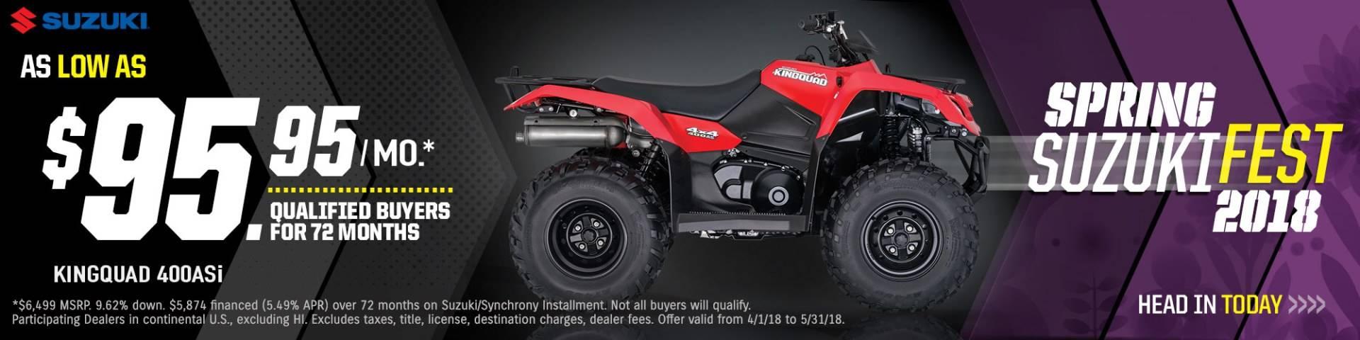 Suzuki - Spring Suzuki Fest for Utility Sport and Sport ATV