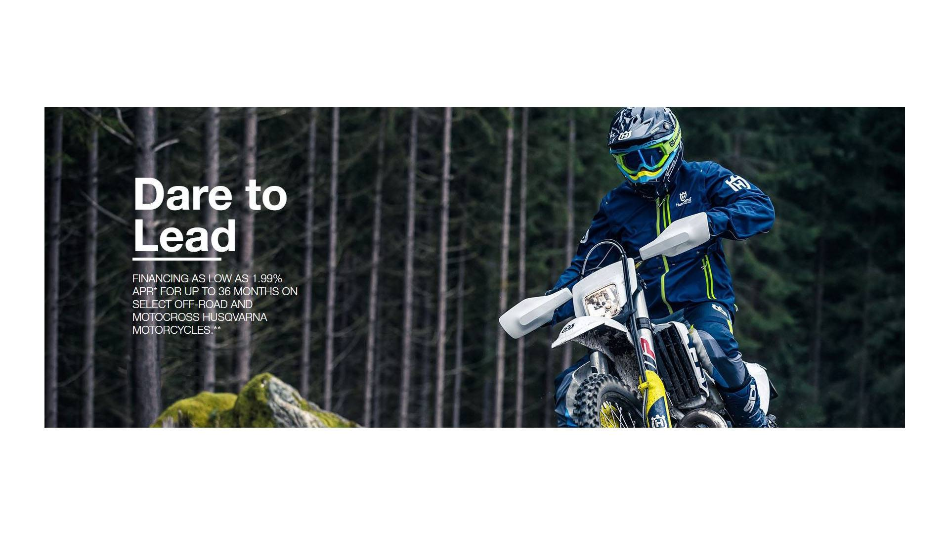 Husqvarna Motorcycles Dare to Lead Retail Finance Program