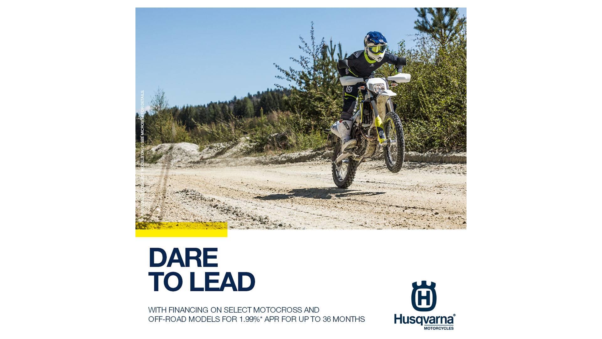 Husqvarna Motorcycles - Dare to Lead Retail Finance Program