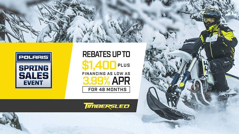 Timbersled - Spring Sales Event