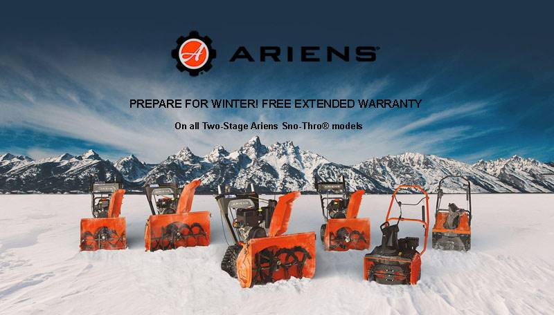 Ariens - Prepare For Winter! Free Extended Warranty