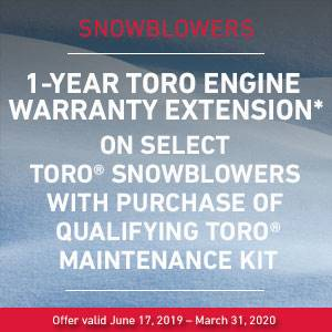Toro - 1-Year Toro Engine Warranty Extension - Snowblowers
