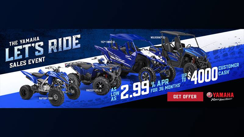 Yamaha Motor Corp., USA Yamaha Side-by-Side - Current Offers & Financing