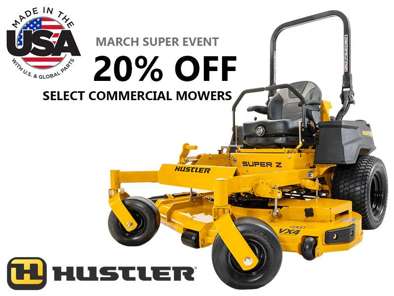 Hustler Turf Equipment - 20% Off Select Commercial Mowers
