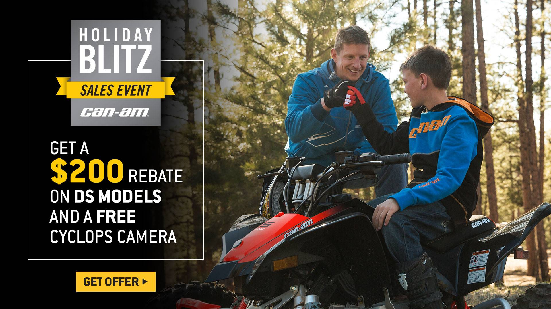 Can-Am - Holiday Blitz Sales Event - DS Models