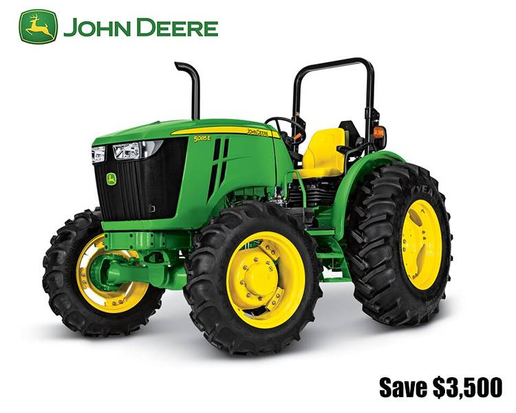 John Deere - Save $3,500 on 5E Series Utility Tractors (85-100 hp)