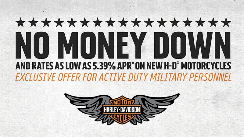 Harley-Davidson - Financing For Active Military Program