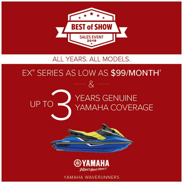 Yamaha Motor Corp., USA Yamaha Waverunners - EX SERIES AS LOW AS $99 A MONTH