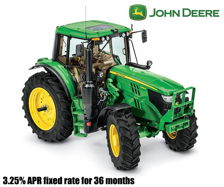 John Deere - 3.25% APR fixed rate for 36 months