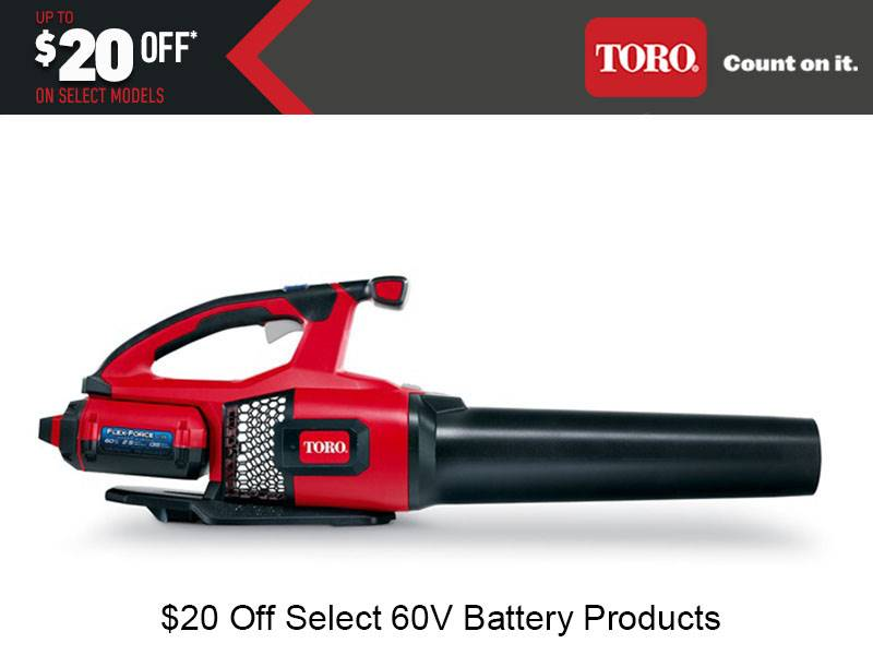Toro - $20 Off Select 60V Battery Products