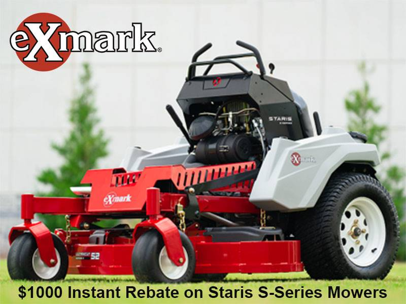 Exmark - $1000 Instant Rebate on Staris S-Series Mowers