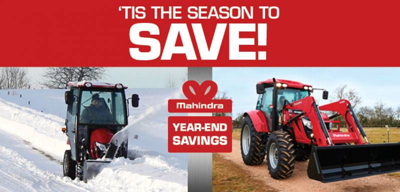 Mahindra - YEAR-END TAX SAVINGS!