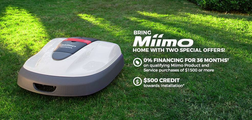 Honda Power Equipment - Bring Home Miimo with Two Special Offers!