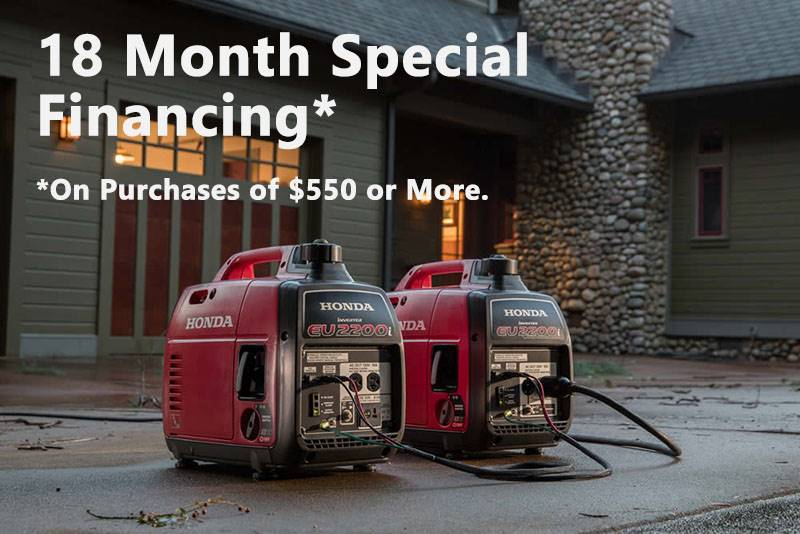 Honda Power Equipment - 18 Month Special Financing on Generator