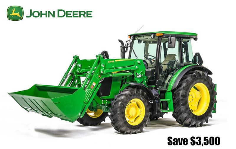John Deere - Save $3,500 on 5G, 5M, and 5 Series Specialty Tractors
