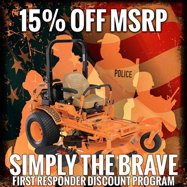 SCAG Power Equipment - Simply The Brave - First Responder Disocunt Program