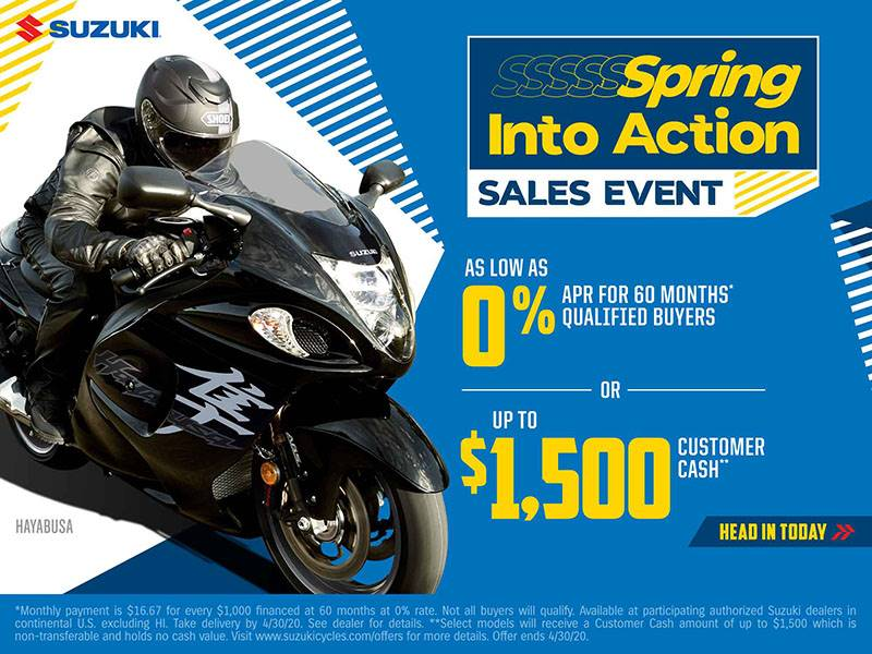 Suzuki Motor of America Inc. Suzuki - Spring Into Action