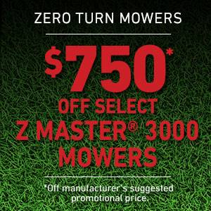 Toro - $750 USD Off Select Z Master 3000 Series Mowers