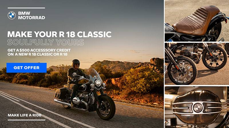 BMW - 2021 R 18 or R18 Classic $500 Accessory Credit