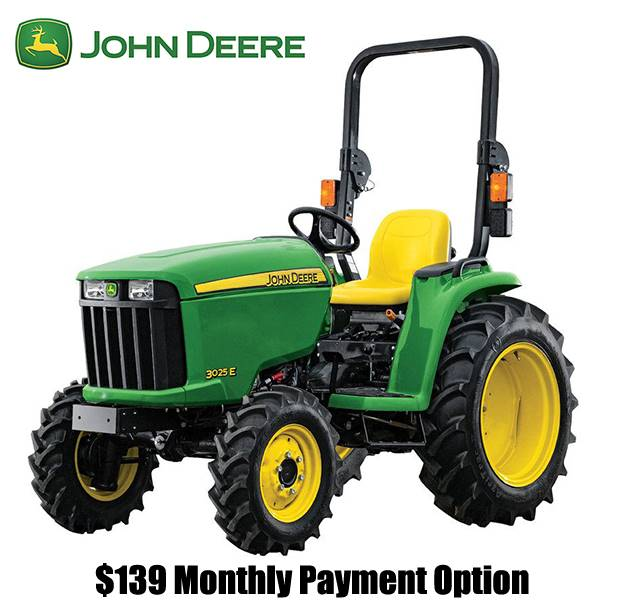 John Deere - $139 Monthly Payment Option
