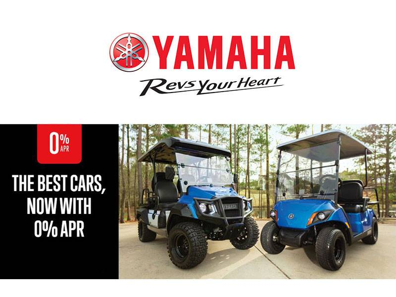 Yamaha - The Best Cars, Now with 0% APR - Golf Cars