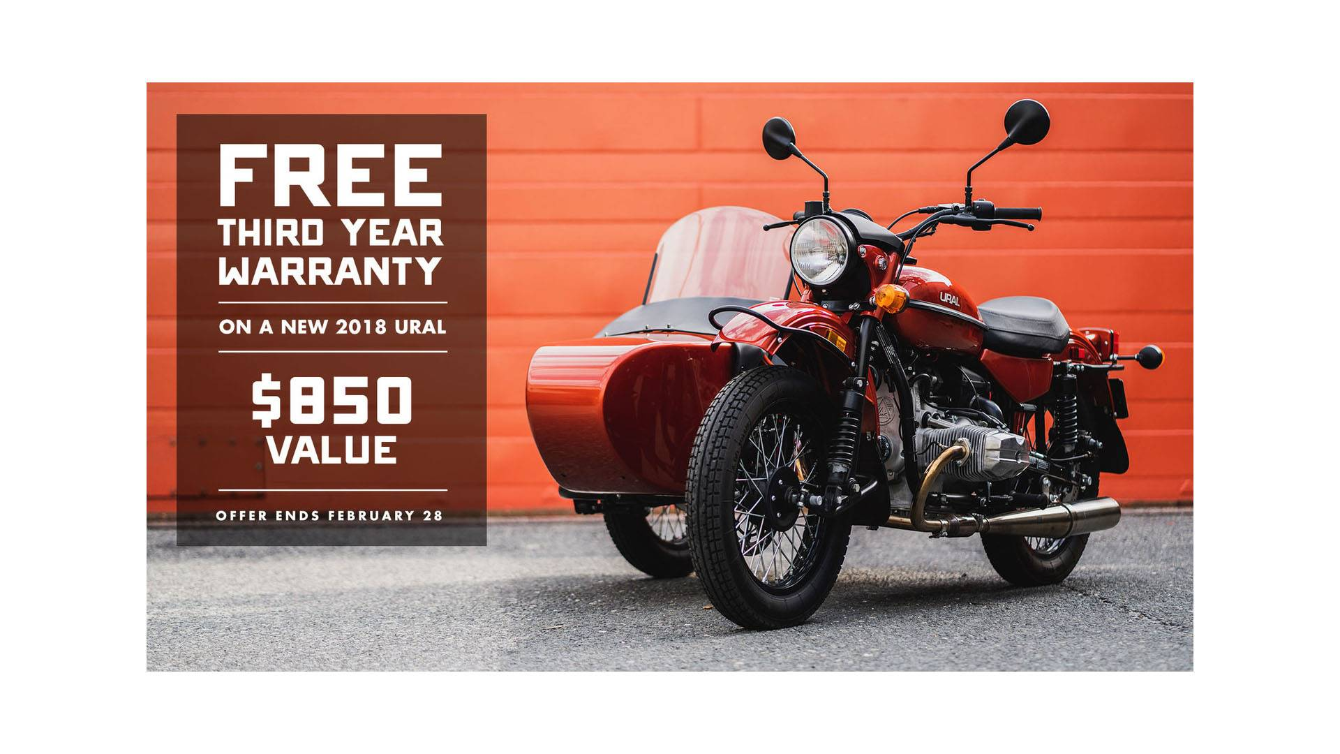 Ural Russian Motorcycles - Free Third Year Warranty