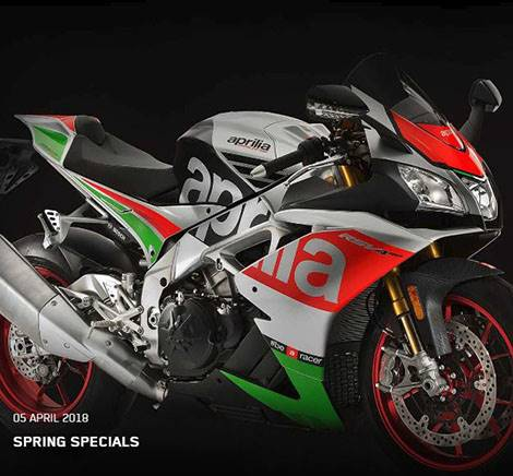 Aprilia - Spring Specials - Payments as Low as $156 / mo. or Financing as Low as 1.99% APR or Customer Cash up to $1,000