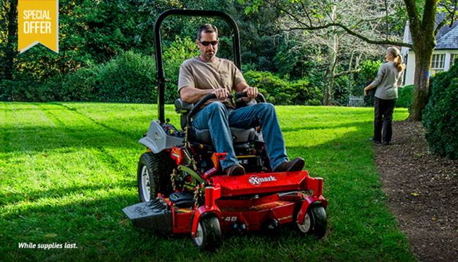 Exmark - Special Pricing on Lazer Z E-Series Mowers