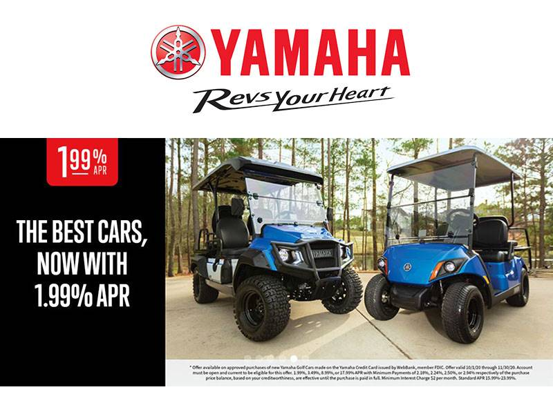 Yamaha Motor Corp., USA Yamaha - The Best Cars, Now with 1.99% APR - Golf Cars
