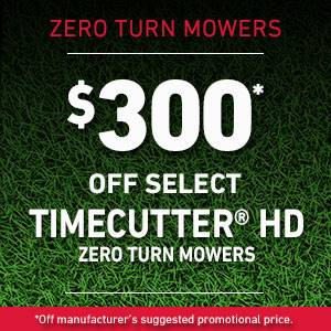 Toro - $300* OFF SELECT TIMECUTTER HD ZERO TURN MOWERS