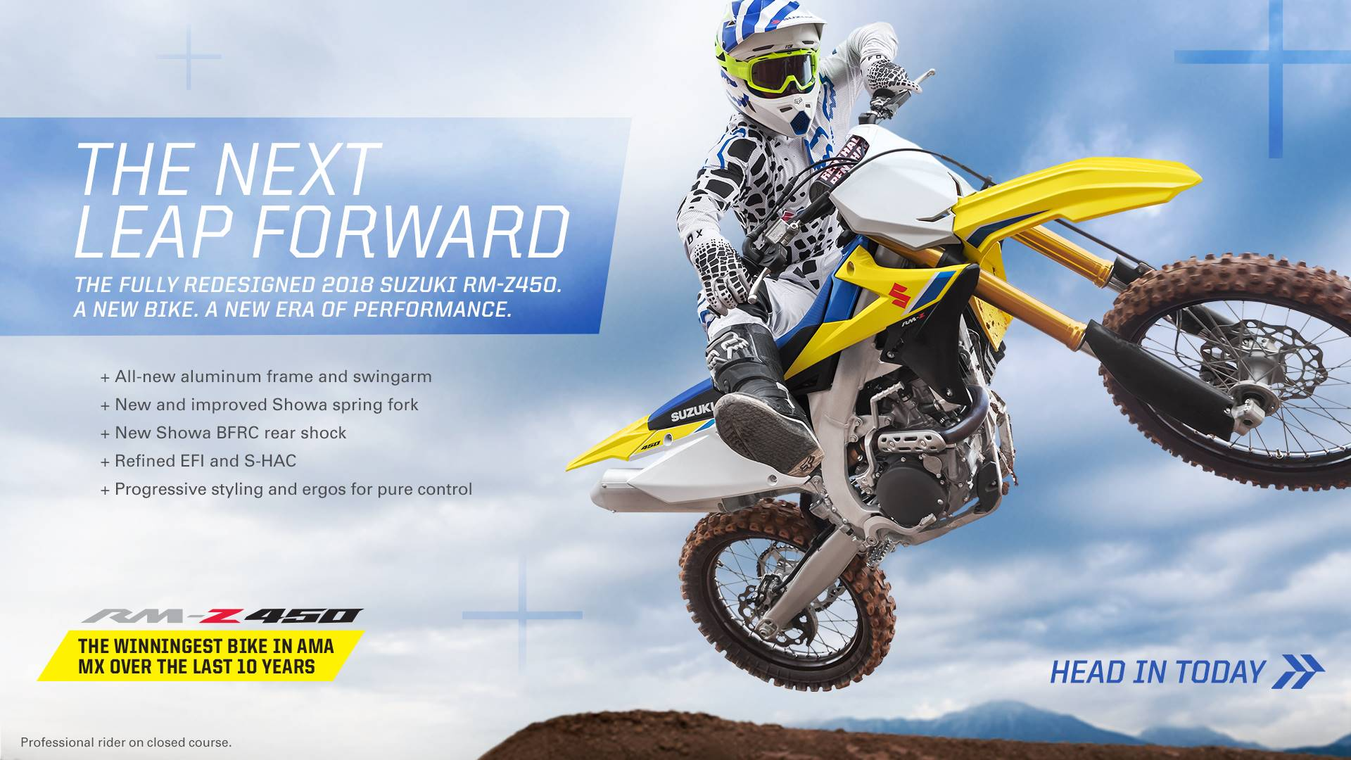 Suzuki Motor of America Inc. Suzuki Fall Suzukifest Motocross and Offroad Motorcycle Financing as Low as 0% APR for 36 Months or Customer Cash Offer