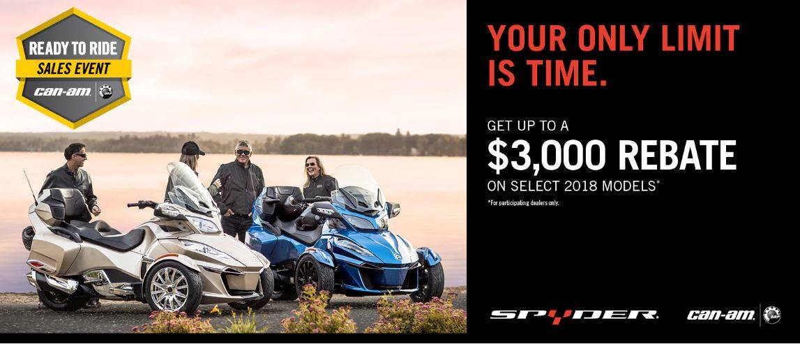 Can-Am Spyder - Ready To Ride Sales Event MY18