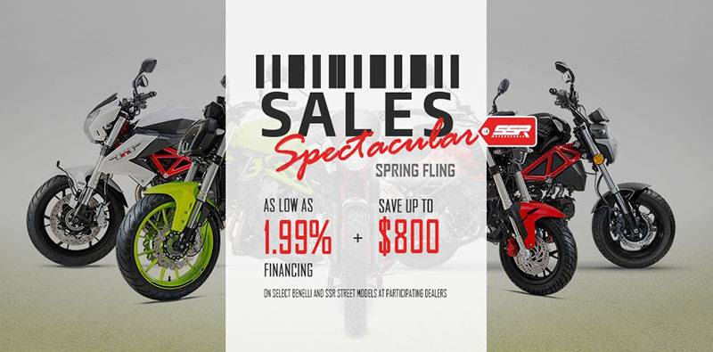 Benelli SALES Spectacular - AS LOW AS 1.99% FINANCING + SAVE UP TO $800