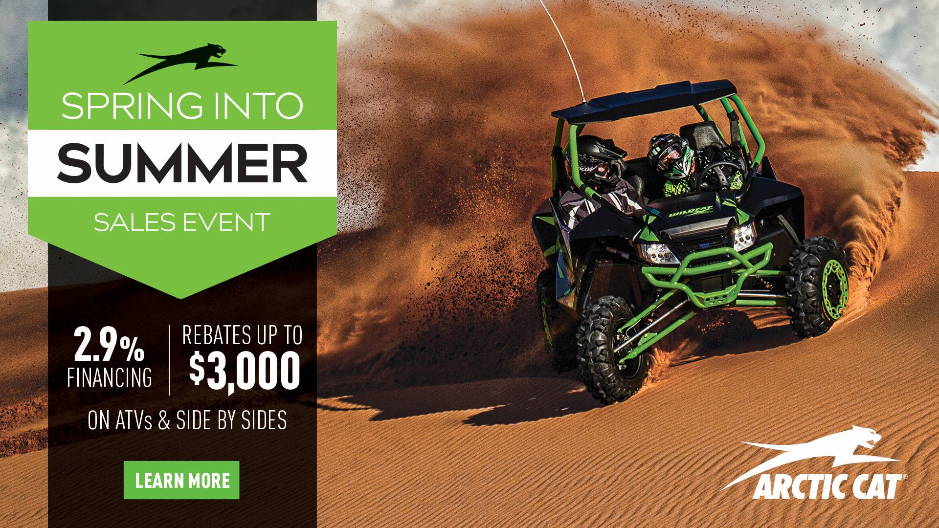 Arctic Cat - Spring Into Summer Sales Event - ATV Promotional Pricing - MY2016