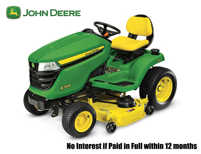 John Deere - No Interest if Paid in Full within 12 months on X300 Select Series Lawn Tractors