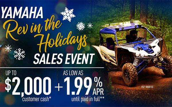 Yamaha Motor Corp., USA Yamaha - Rev in the Holidays Sales Event - Pure Sport Side-by-Side